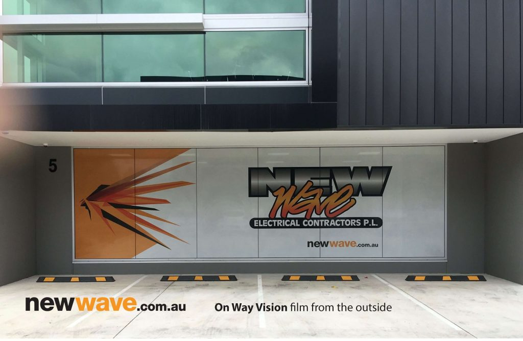 New Wave Electrical Contractors One Way Vision out side copy