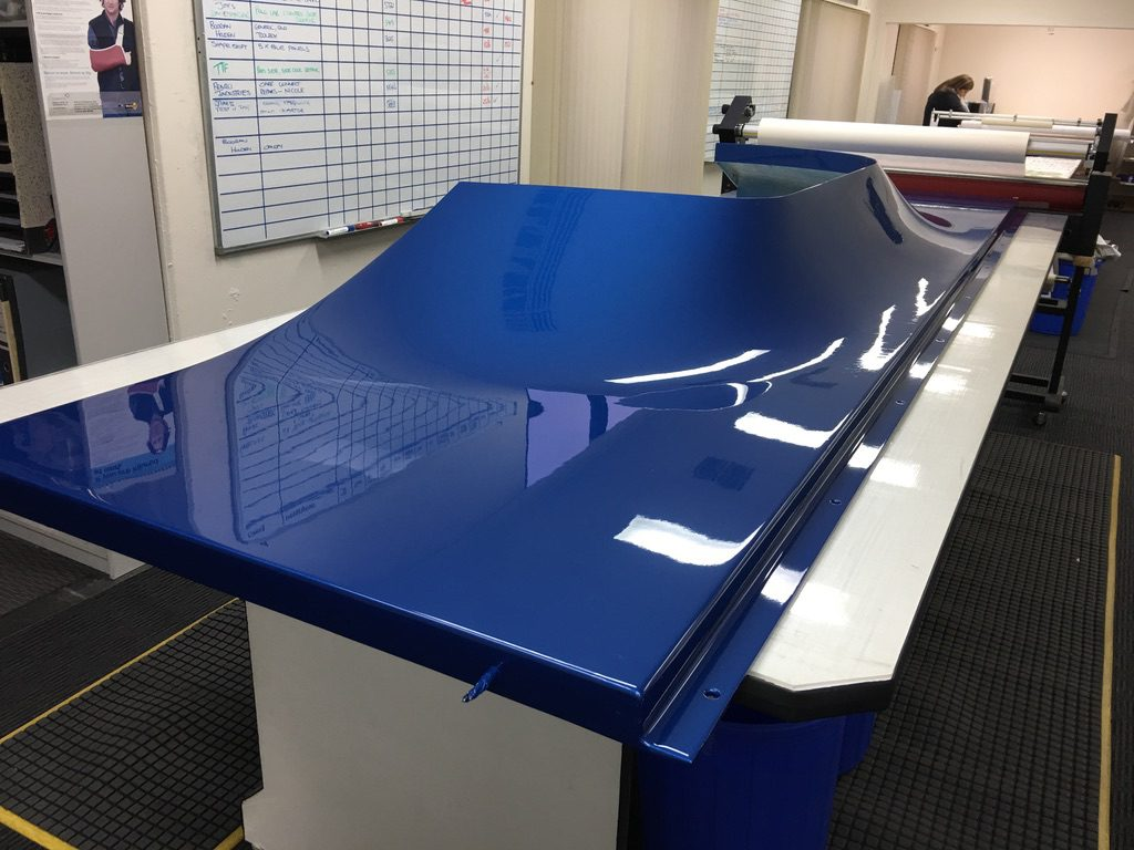 3M-Clear-protective-film-applied-to-a-powder-coated-panel