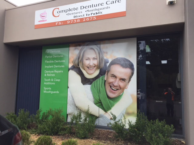 Complete Dental Care with One Way Vision on the front window
