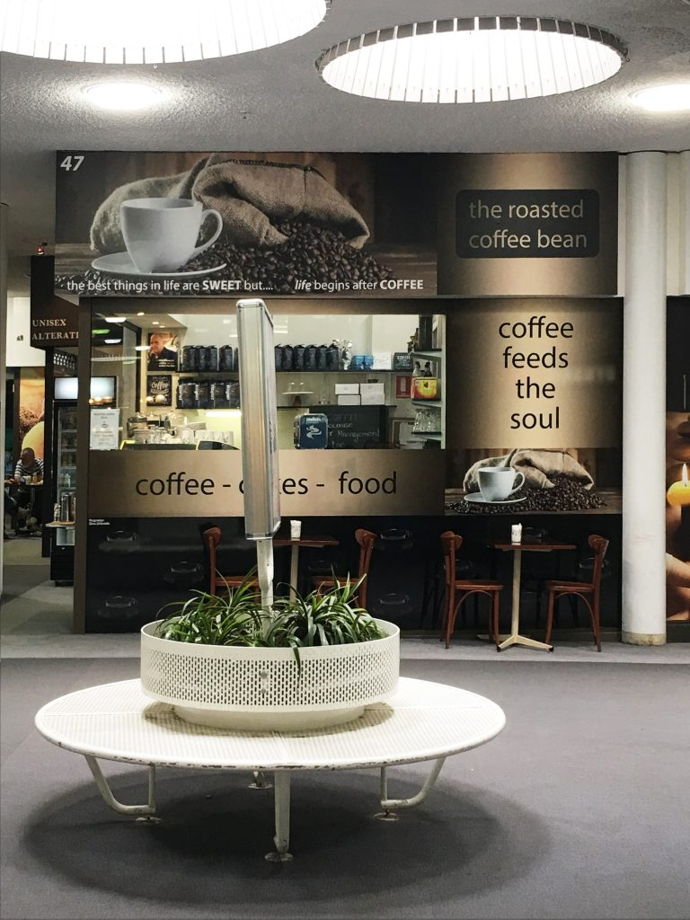 Coffee shop sign writing design and installation